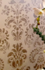 Multi Shimmery Color Damask Stenciling